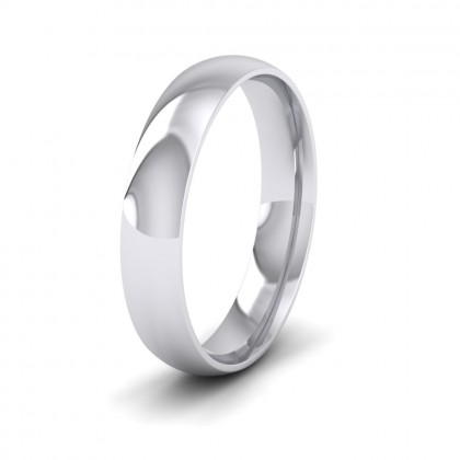500 Palladium 4mm Court Shape (Comfort Fit) Classic Weight Wedding Ring