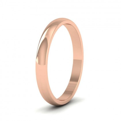 9ct Rose Gold 2.5mm 'D' Shape Classic Weight Wedding Ring