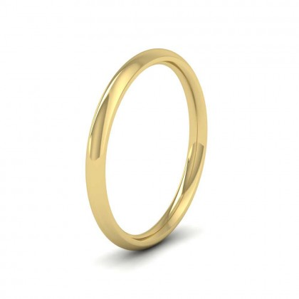 9ct Yellow Gold 2mm Court Shape (Comfort Fit) Extra Heavy Weight Wedding Ring