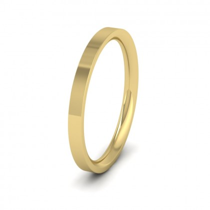 9ct Yellow Gold 2mm Flat Shape (Comfort Fit) Extra Heavy Weight Wedding Ring
