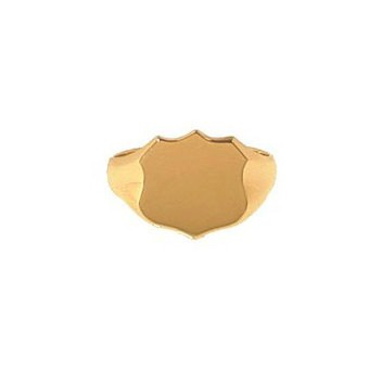 9ct Yellow Gold Gentlemans Plain Shield Signet Ring
