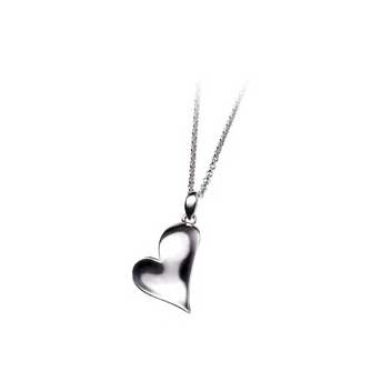 925 Sterling Silver Heart Pendant and Chain Necklace