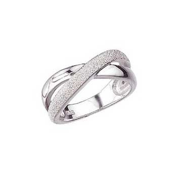 925 Sterling Silver Crossover Ring