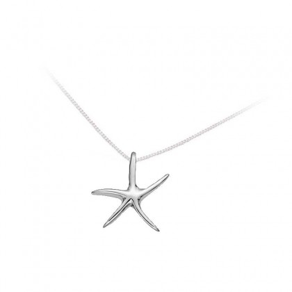 Sterling Silver Small Starfish Pendant