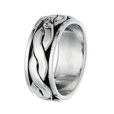 925 Sterling Silver Twist Spinner Ring
