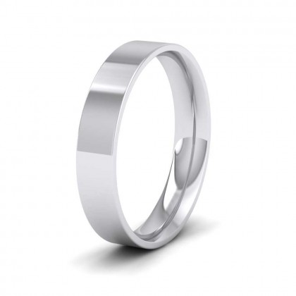 950 Platinum 4mm Flat Shape (Comfort Fit) Classic Weight Wedding Ring