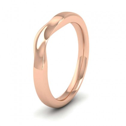 Shaped And Dipped 9ct Rose Gold 2.5mm Wedding Ring