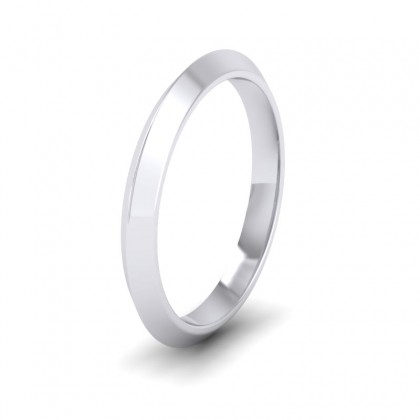 Knife Edge Shape 500 Palladium 2.5mm Wedding Ring