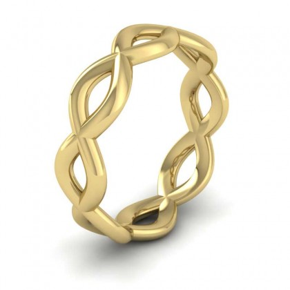 Double Twist 9ct Yellow Gold 6mm Wedding Ring