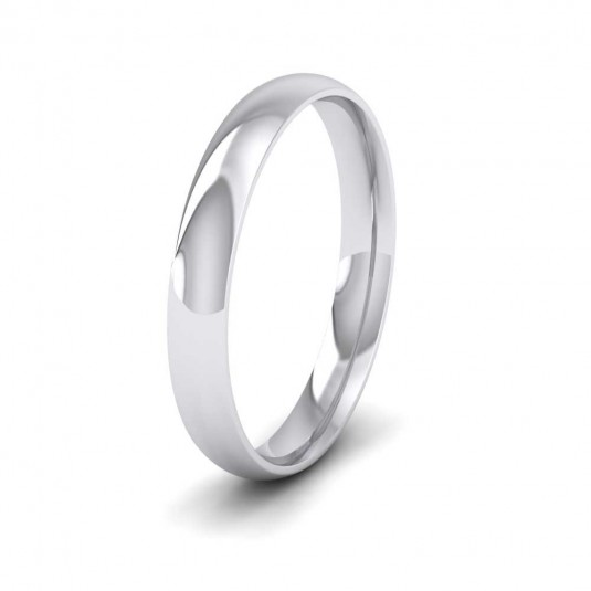 950 Platinum 3mm Court Shape (Comfort Fit) Classic Weight Wedding Ring