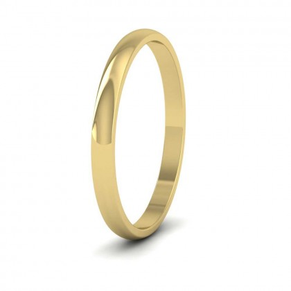 14ct Yellow Gold 2mm 'D' Shape Classic Weight Wedding Ring
