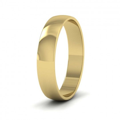 14ct Yellow Gold 4mm 'D' Shape Classic Weight Wedding Ring