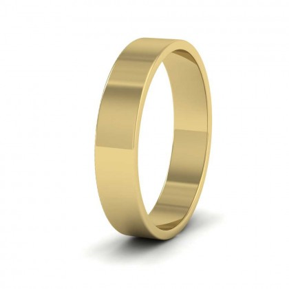 14ct Yellow Gold 4mm Flat Shape Classic Weight Wedding Ring
