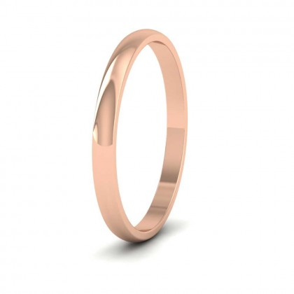 18ct Rose Gold 2mm 'D' Shape Classic Weight Wedding Ring