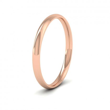 18ct Rose Gold 2mm Court Shape (Comfort Fit) Classic Weight Wedding Ring
