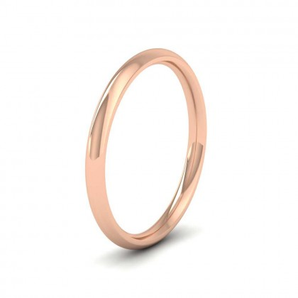 18ct Rose Gold 2mm Court Shape (Comfort Fit) Extra Heavy Weight Wedding Ring