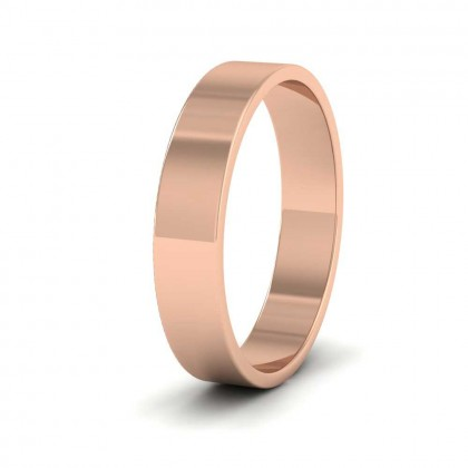 18ct Rose Gold 4mm Flat Shape Classic Weight Wedding Ring