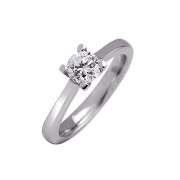 18ct White Gold 0.5ct Brilliant Cut Diamond Solitaire Ring