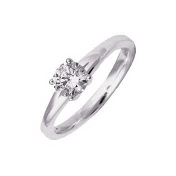18ct White Gold 0.75ct Brilliant Cut Diamond Solitaire Ring