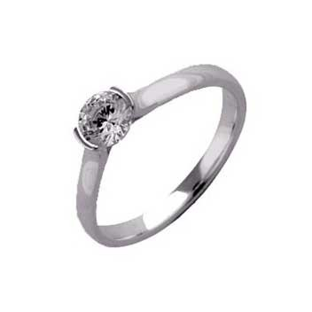18ct White Gold 0.35ct Brilliant Cut Diamond Solitaire Ring