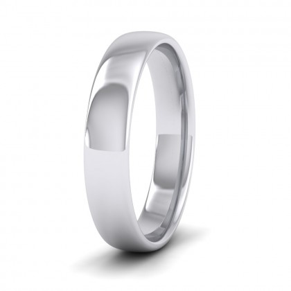 500 Palladium 4mm Cushion Court Shape (Comfort Fit) Classic Weight Wedding Ring