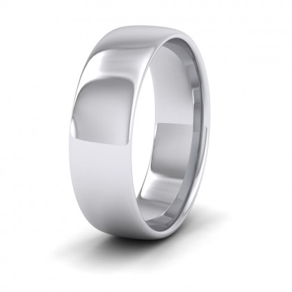 500 Palladium 6mm Cushion Court Shape (Comfort Fit) Classic Weight Wedding Ring