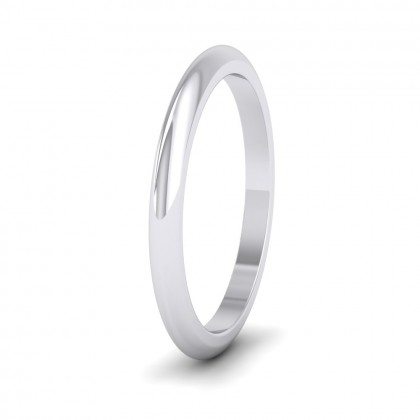 500 Palladium 2mm 'D' Shape Super Heavy Weight Wedding Ring