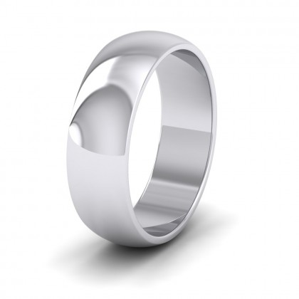 500 Palladium 6mm 'D' Shape Extra Heavy Weight Wedding Ring