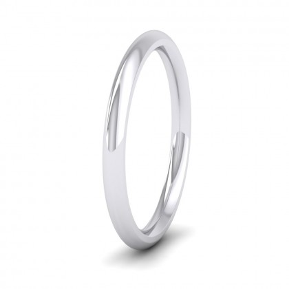 500 Palladium 2mm Court Shape (Comfort Fit) Super Heavy Weight Wedding Ring
