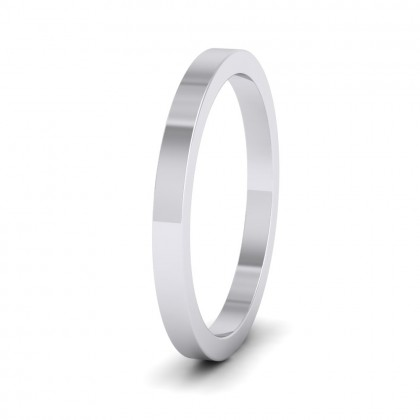 500 Palladium 2mm Flat Shape Super Heavy Weight Wedding Ring