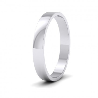 500 Palladium 3mm Flat Shape Classic Weight Wedding Ring