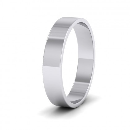 500 Palladium 4mm Flat Shape Classic Weight Wedding Ring