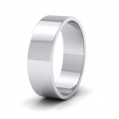 500 Palladium 6mm Flat Shape Classic Weight Wedding Ring