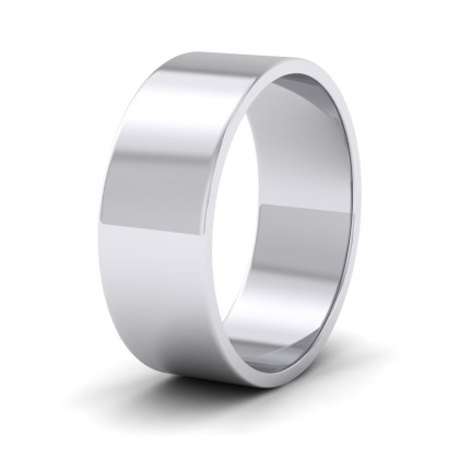 500 Palladium 7mm Flat Shape Classic Weight Wedding Ring
