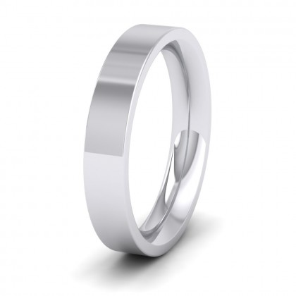 500 Palladium 4mm Flat Shape (Comfort Fit) Super Heavy Weight Wedding Ring