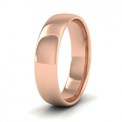 9ct Rose Gold 5mm Cushion Court Shape (Comfort Fit) Classic Weight Wedding Ring
