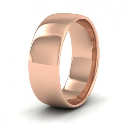 9ct Rose Gold 7mm Cushion Court Shape (Comfort Fit) Classic Weight Wedding Ring