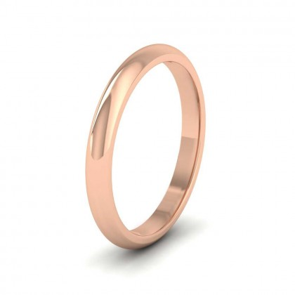 9ct Rose Gold 2.5mm 'D' Shape Extra Heavy Weight Wedding Ring