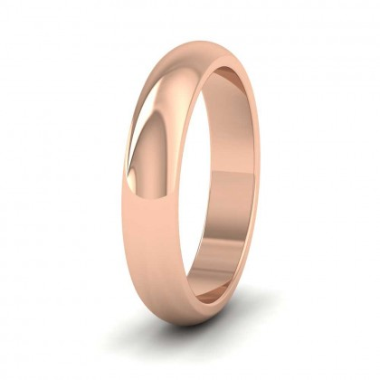 9ct Rose Gold 4mm 'D' Shape Super Heavy Weight Wedding Ring
