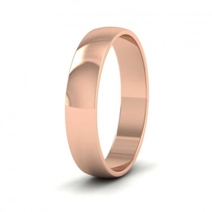 9ct Rose Gold 4mm 'D' Shape Classic Weight Wedding Ring