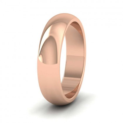 9ct Rose Gold 5mm 'D' Shape Super Heavy Weight Wedding Ring