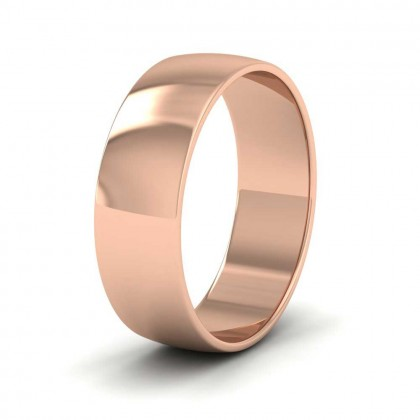 9ct Rose Gold 6mm 'D' Shape Classic Weight Wedding Ring