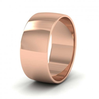 9ct Rose Gold 8mm 'D' Shape Classic Weight Wedding Ring