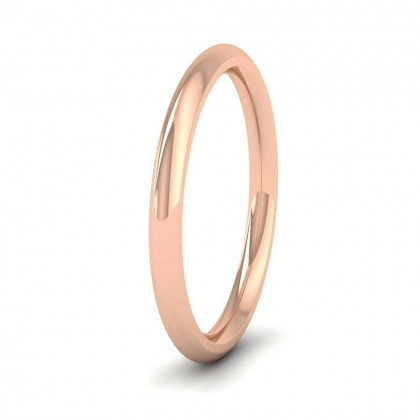 9ct Rose Gold 2mm Court Shape (Comfort Fit) Super Heavy Weight Wedding Ring