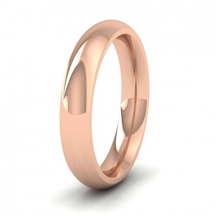 9ct Rose Gold 4mm Court Shape (Comfort Fit) Super Heavy Weight Wedding Ring