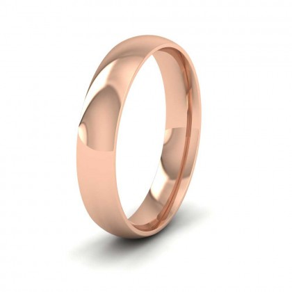 9ct Rose Gold 4mm Court Shape (Comfort Fit) Classic Weight Wedding Ring
