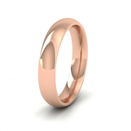 9ct Rose Gold 4mm Court Shape (Comfort Fit) Extra Heavy Weight Wedding Ring