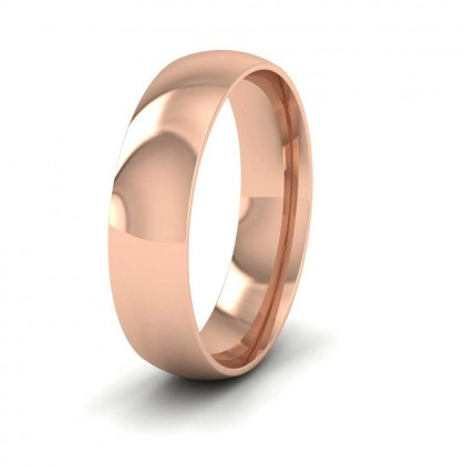 9ct Rose Gold 5mm Court Shape (Comfort Fit) Classic Weight Wedding Ring