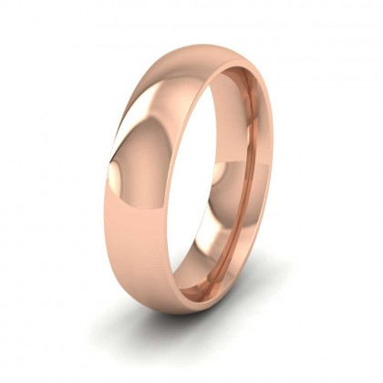 9ct Rose Gold 5mm Court Shape (Comfort Fit) Extra Heavy Weight Wedding Ring