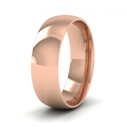 9ct Rose Gold 6mm Court Shape (Comfort Fit) Classic Weight Wedding Ring